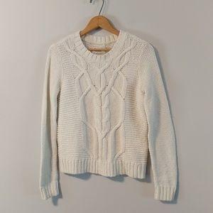Abercrombie & Fitch chunky cream crew sweater 2208